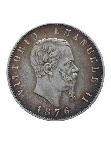 5 Lire 1876 Roma - Vittorio Emanuele II