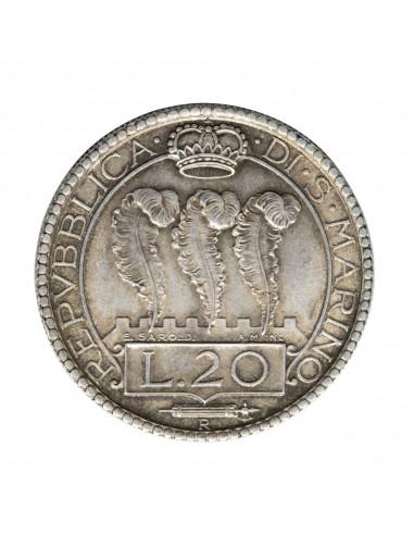 San Marino - 20 Lire 1935